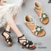 涼鞋/百搭女鞋平底鞋仙女鞋沙灘鞋夏季新款鞋子學生羅馬鞋「歐洲站」