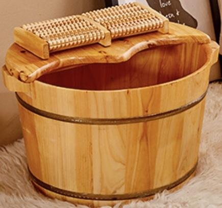實木足浴桶家用按摩泡腳木桶洗腳盆成人木盆特價足療養生木質小號 MKS免運