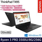 【Lenovo】ThinkPad T495 20NJS04E00 14吋AMD四核256G SSD效能Win10商務筆電(一年保固)