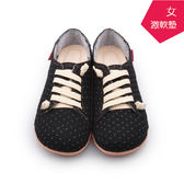 【A.MOUR 經典手工鞋】特色饅頭 - 點黑 / 氣墊鞋 / 平底 / 嚴選布料 / 超軟饅頭鞋 / DH-2718