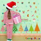 壁貼【橘果設計】聖誕樹 DIY組合壁貼 ...