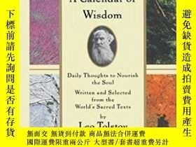二手書博民逛書店A罕見Calendar Of WisdomY364682 Leo Tolstoy Scribner 出版19