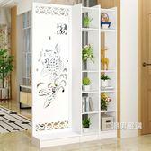屏風屏風隔斷客廳玄關櫃現代時尚行動門廳裝飾櫃鏤空雕花櫥窗背景免運xw