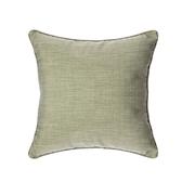 HOLA 素色拼色滾邊抱枕50x50cm 綠灰