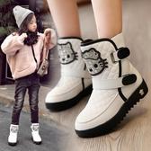 雪靴女童靴子2018秋季新款童鞋女冬兒童雪地靴女孩小短靴寶寶加絨棉鞋