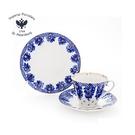 首次優惠 -俄羅斯Imperial Porcelain-午茶系列-花籃盛景22K金手工-3件式杯盤禮組