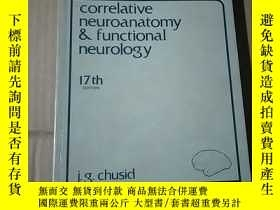 二手書博民逛書店correlative罕見neuroanatomy & functional neurology 17thY1