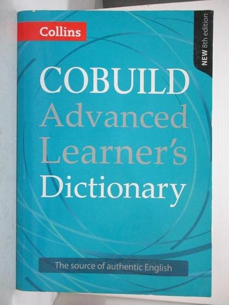 【書寶二手書T6/字典_E39】Collins Cobuild Advanced Learner's Dictionary,8/e_Collins Cobuild