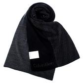 CalvinKlein CK雙色LOGO圍巾(黑色)103213