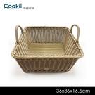 【仿藤置物籃】36x36x16.5cm 餐廳居家廚房桌旁椅下置放籃均適用【禾器家居】餐具 65Ci0644