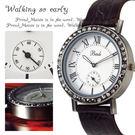 【限量贈盒】女錶 Bade復古雕花 氣質羅馬數字珍珠面黑鑽 ☆匠子工坊☆【UQ0100】