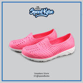 PONY 水鞋 Tropic 輕量化 軟Q 防水 洞洞鞋 男女 亮粉 粉紅 少女 超萌 幾何 線條 62U1SA61PK【SP】