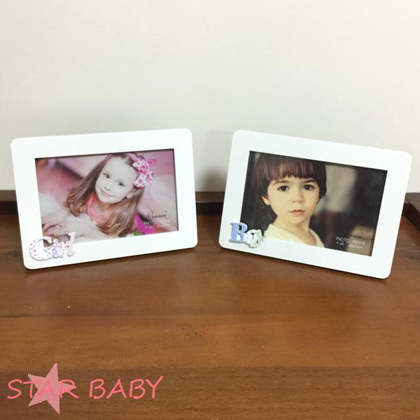 STAR BABY-BOY GIRL 造型字母BABY 4*6 照片 相框