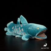 可愛腔棘魚公仔 棘魚毛絨玩具 仿真動物毛絨玩具 38CM