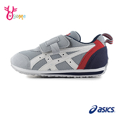 ASICS亞瑟士男童鞋 SUKU童運動鞋機能鞋IDAHO MINI足弓鞋墊 男童跑步鞋B9154#灰藍◆OSOME奧森鞋業