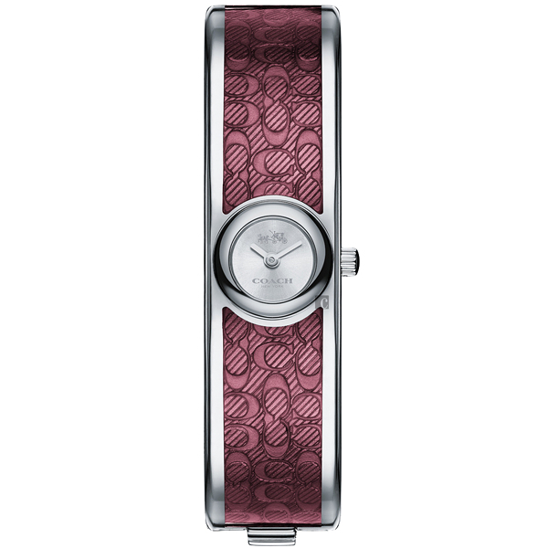 COACH Scout 經典C字時尚手環錶-酒紅/16mm CO14502621 比漾廣場