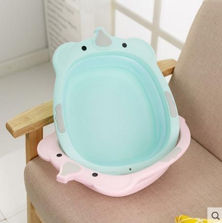 嬰兒洗臉盆 可折疊盆新生兒寶寶用品網紅款折疊浴桶