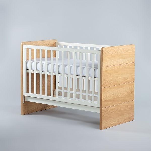 【贈純棉床包1入】Moji Dreamy 成長型原木嬰兒床(含床墊)-質樸木