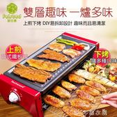 現貨24小時出貨  電燒烤爐韓式家用不粘烤盤無煙烤肉機室內烤串鐵板燒多功能燒烤架110v