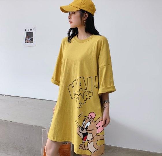 韓連帽T裙連身裙洋裝M-XL東大門中大尺碼女裝連衣裙居家服NC417.805胖胖唯依