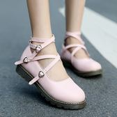 小皮鞋圓頭平底娃娃鞋學生公主牛津單鞋女