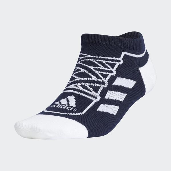Adidas Sn Socks Low [GN8861] 男女 船型襪 短襪 運動襪 舒適 趣味 鞋帶設計 深藍