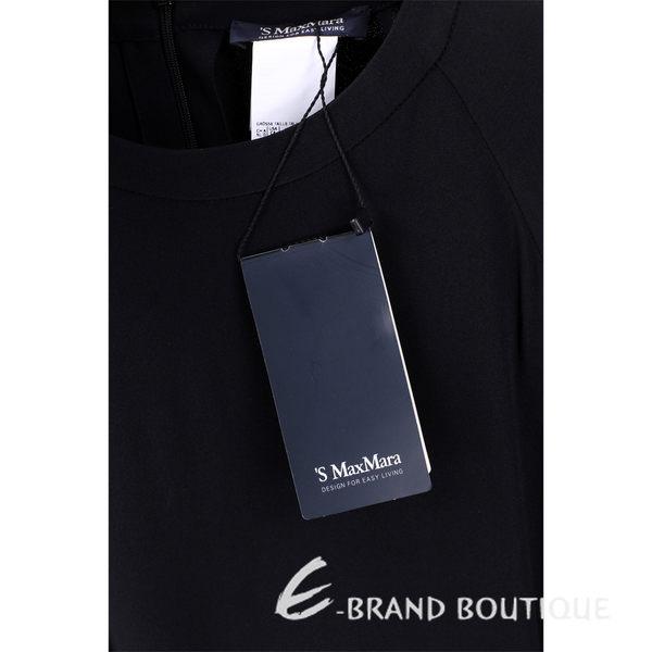 MAX MARA-'S Max Mara 黑色圓領短袖洋裝 1540507-01