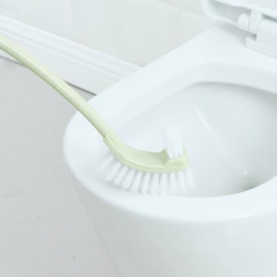 ✭米菈生活館✭【M154】背部刷毛馬桶清潔刷 長柄 浴室 洗廁所 去汙 汙漬 清洗 死角 縫隙 掛 瀝水
