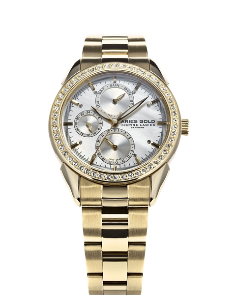 Aries Gold雅力士手錶 L 1156A G-MOP 獨特氣質三眼女錶 珍珠母貝設計 無錶盒 錶現精品 原廠公司貨