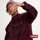 Levis 男款 Stay Loose 工裝燈心絨機能襯衫外套 / Oversize寬鬆版型 / 酒紅