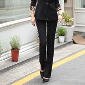 西裝褲女春夏修身小腳黑色正裝工裝工作褲子高腰直筒長褲職業微喇『潮流世家』