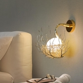北歐式個性鳥巢客廳壁燈過道墻壁燈led溫馨臥室床頭燈創意樓梯燈