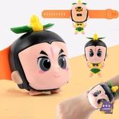 兒童錶 葫蘆娃兒童玩具卡通變形音樂手錶男女孩小學生社會人抖音同款玩具【快速出貨】