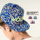 『 One Boy 』【NU3013】強烈對比色系電繡WOLFM棒球帽