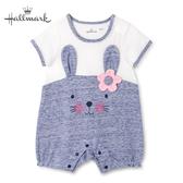 Hallmark Babies 小兔兔密友系列春夏女嬰短袖連身衣 HH1-B06-03-BG-NN