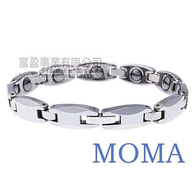【MOMA】鎢鋼鍺磁手鍊風華寬版-M83M