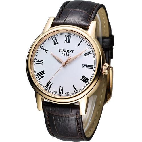 天梭 Tissot Carson 經典紳士石英錶 T0854103601300