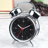【優選】超響大聲床頭簡約小鬧鐘起床金屬機械打鈴