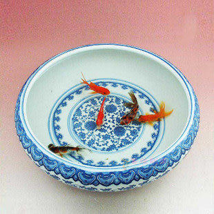 陶瓷藝術金魚盆
