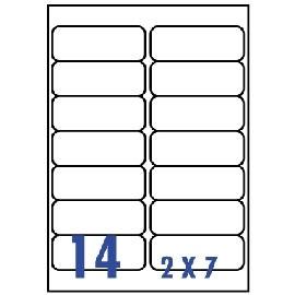 Unistar 裕德3合1電腦標籤紙 (19)US4678 14格 (100張/盒)