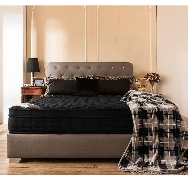 單人床墊 Louise 鑽黑三線乳膠五段式獨立筒無毒床墊[單人3.5×6.2尺]【obis】