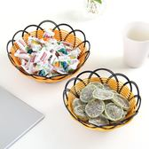 水果盘塑料家用歐式塑料編織果盤小創意多功能客廳瀝水水果盆大號果瓜子盆 俏女孩