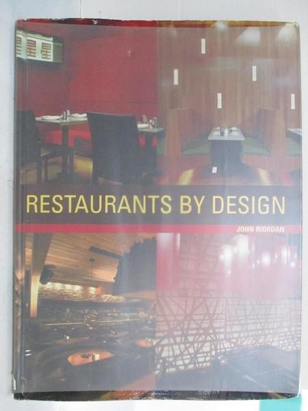 【書寶二手書T9/建築_KUI】Restaurants By Design_John Riordan