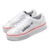 adidas 休閒鞋 Sleek Super W 白 黑 女鞋 運動鞋 大LOGO 厚底 【PUMP306】 EF4956