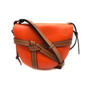【台中米蘭站】全新品 LOEWE Gate 新款撞色牛皮斜背包-小(橘色/粉紅/焦糖)