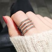 戒指 多層日韓網紅潮人學生Chic極簡食指環冷淡風個性戒指女潮流時尚子 城市科技