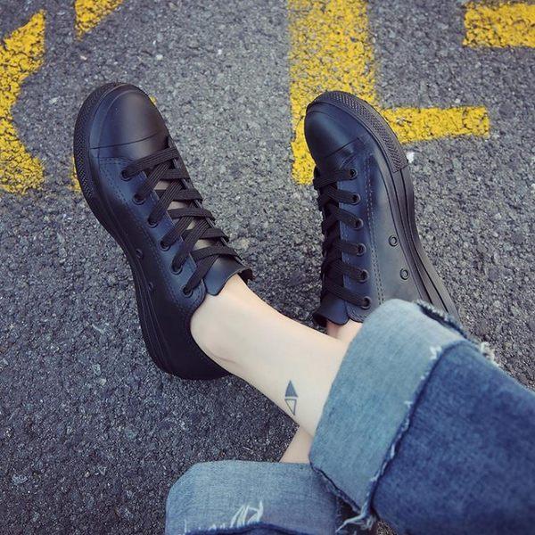 現貨雨靴 ins港風低筒雨鞋女士成人短筒休閒防水雨靴女時尚百搭白鞋防滑s鞋【快速出貨】