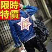 牛仔外套單寧男夾克-時尚型男典型合身剪裁1色61t25【巴黎精品】