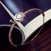 手環 圓形 鑲鑽 寶石 開口 氣質 手鐲 簡約 手環 手飾【DD1605237】 icoca  09/05