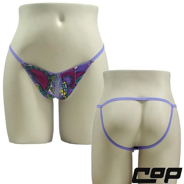 女內褲(COP)F401紫花-F-丁字